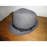 Sombrero De Vestir Gris Con Moño Y Ala Clásica