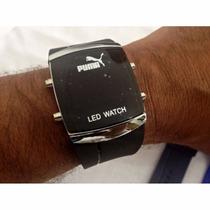 Relógio Puma Led Digital Com Pulseira Macia Silicone Lindo