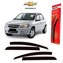 Calha De Chuva Defletor Chevrolet Celta 2003/2015 4pts Fume