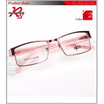 Armação Óculos De Grau - Metal Fechado Feminino Masculino Bm