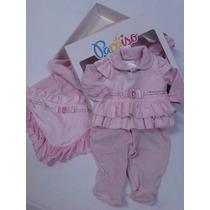Kit Saida De Maternidade Bebê Plush Menina Paraiso Ref 6221