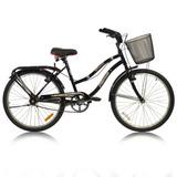 Bici Playera Urbana Dama Full Paseo R24 C/ Canasto Parrilla