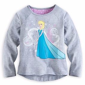 Camisa Manga Comprida Elsa Frozen Disney Store 7/8a - Promo