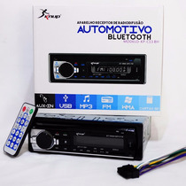 Receiver Radio Carro Fm Mp3 Bluetooth Sd Pendrive Usb