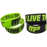 Pulsera De Silicona Muscle Pharm Mp Y Otras Marca Wrist Band