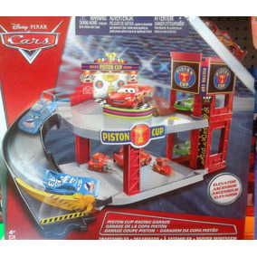 Cars Mcqueen Pista Garage De Coleccion!!
