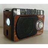 Rádio Am Fm Recarregável C/lanterna C/cabo Força Ótimo Sinal