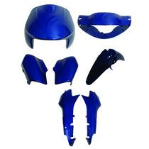 Carenagem Biz C-100 Azul Perolizado Ano 2002/03 Kit Completo