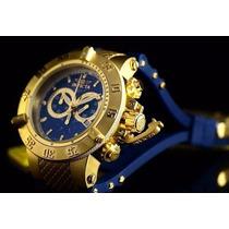Lindo Relógio Invicta 5515 Dourado Azul Promocional Original