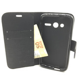 Capa Case Carteira Celular Alcatel Pixi4 Tela 4 + Pelicula