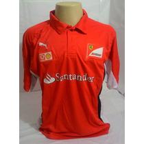 Camisa Ferrari Santander Lançamento Frete Grátis