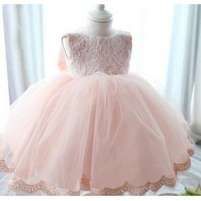 Vestido Infantil Festa Princesa Casamento C/ 5 Forros Rosa
