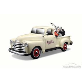 Maisto 1:24 Harley-davidson 1950 Chevrolet & Motocicleta