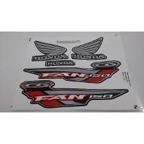 Kit Jogo Adesivo Moto 150 Fan Esdi 2014 14 Preta 1148