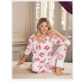 Pijama Viscosa Estampado Besos Lody 7211 Tienda Wariel