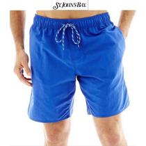 Shorts Xl St John Bay Traje Bano Azul Bermudas Extra Grande