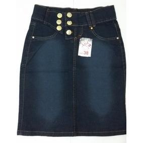 Saia Jeans Lycra Moda Evangélica Promoção !!