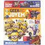 Livro Geek Jovem Minions Super Heróis Mangas Dinossauros + B