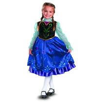 Disfraz Disney Está Congelado Traje De Anna Lujo Chica, 4-6