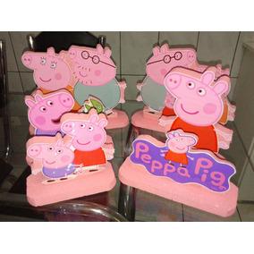 Kit Display Enfeites Isopor - Peppa Pig 6 Peças-promoção