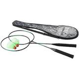 Juego De Badminton Raquetas + Plumas + Funda