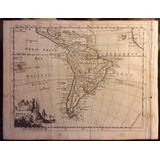 Mapa Antiguo De America Del Sur - 1754 - Jefferys - Raro