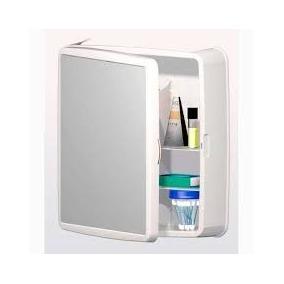 Armário De Banheiro Sintex Branco Com Espelho + Frete Grátis