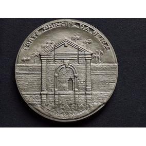 Brasil Medalha Forte Principe Da Beira 64 Gr Prata 900 Fc