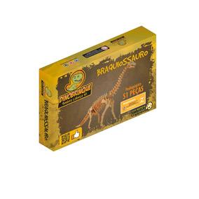 Braquiossauro 51 Peças - Quebra Cabeça 3d Dinobrinque