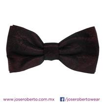 Moño/pajarita/bowtie Hombre Brocado Flores Color Tinto.