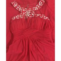 Vestido Largo Color Rojo De Lizminelli