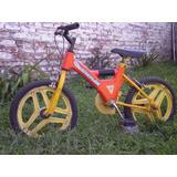 Increible Bici Tipo Moto Rodado 14