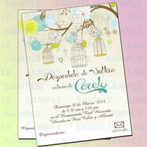 Invitaciones Despedida De Soltera-flores-jardineria-boda