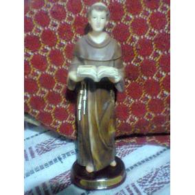 Figura Religiosa De San Antonio 18x6cm Con Oración