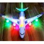 Avião A380 Airbus Elétrico Luzes Bate Volta Brinquedo Musica