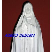 Escultura Estatua Virgen Fatima 59 Cemento Blanco Imagen