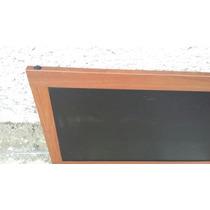 Pizarrón Negro Marcó De Aluminio Acabado Madera