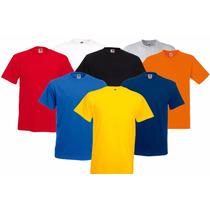 Camiseta Masculina 100% Algodão Lisa Fio 30.1 Varias Cores