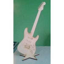 10 Figuras Guitarra Mdf Tipo Stratocaster 45 Cm Centro Mesa