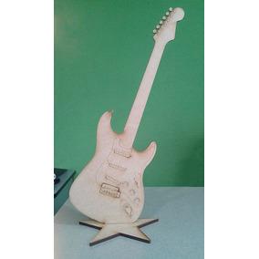 20 Figuras Guitarra Mdf Tipo Stratocaster 45 Cm Centro Mesa