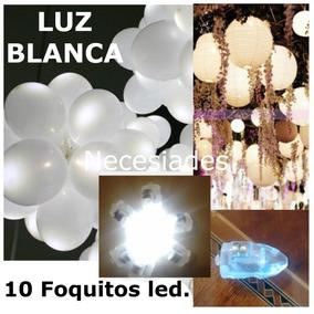 10 Focos Led Lampara China,luz Blanca Arreglo Foquito Boda