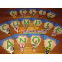 Souvenirs Banderín Feliz Cumpleaños - Canciones De La Granja