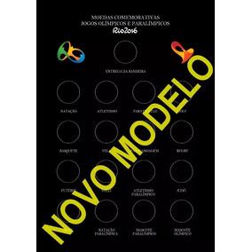 Cartela Moedas Olimpíadas 2016 (imagem P/você Imprimir)