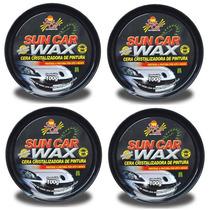 Cx C/ 04 Cera Wax Cristalizadora Sun Car 100 Gr C/ Esponja