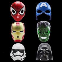 Máscara Homem De Ferro Aranha Hulk Led Fantasia Infantil
