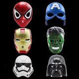 12 Máscara Homem De Ferro Aranha Hulk Led Fantasia Infantil