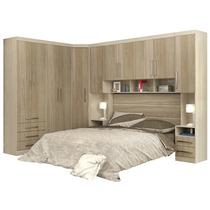 Dormitório Modulado Casal 6 Peças - Eucamóveis Smart Bm223