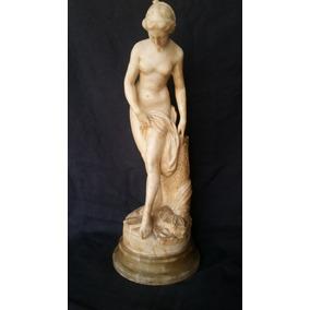 Escultura Feminina Em Alabastro 60cm