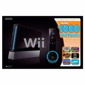 Console Nintendo Wii Black 1000 Wii Points Lacrado Envio Hj