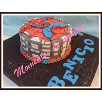 Torta Hombre Araña Decoracion 100% Artesanal